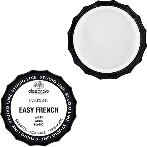 Easy French Gel Mat Beyaz (%100 Gel İçeren French Mat Beyaz Tırnak Gel)